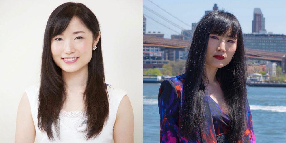 左:日本風メイクアップ(撮影:Shino Yanagawa)右:アメリカ風メイクアップ(撮影:Vitus Feldmann)