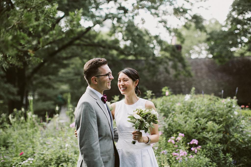 NY市役所で結婚した日、セントラルパークにて photo by UNIQUE LAPIN